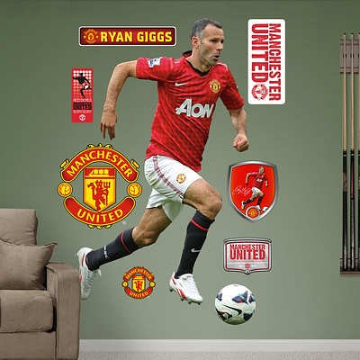 (46x78) Manchester United Ryan Giggs Wall Decal Sticker