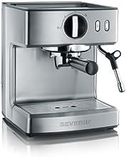 Severin KA 5990 Espressomaschine (1200 Watt, 2,1 l, 15 bar) edelstahl-gebürstet-schwarz