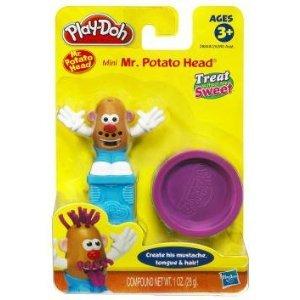 Play Doh Mini Playset Treats, Includes 1 Oz Play Doh & Presser, 3Y+, (Mini Mr. Potato Head)