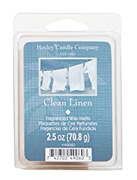 Hosley Candle Company Clean Linen Scented Wax Cubes / Melts - 2.5 oz. Hand poured wax infused with essential oils
