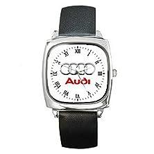 buy Roound Dwl067 New Audi Car Logo Square Metal Watch Leatherban D
