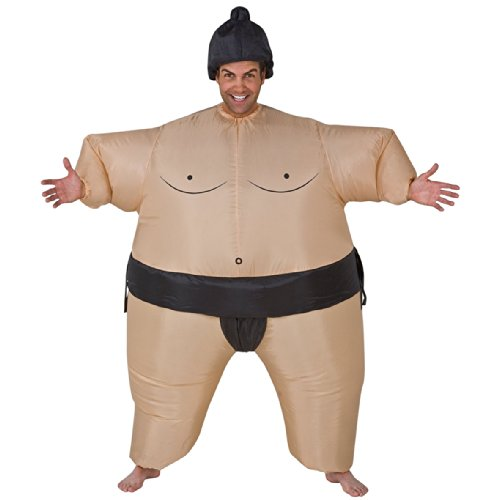 Inflatable Sumo Wrestler Adult Fancy Dress Costume