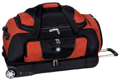 Planet Earth Luggage Sahara Eco-friendly Drop Bottom Duffle Bag, Burnt Orange, One Size