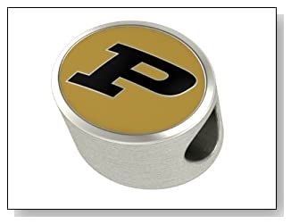 Purdue Boilermakers Premium Series Bead Fits Most European Style Bracelets. High Quality Charm in Stock for Fast Shipping.