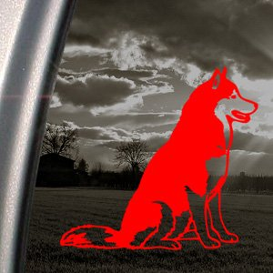 Siberian Husky Red Decal Dog Car Truck Window Red Sticker