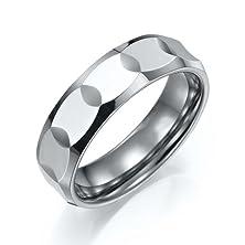 buy Sparkling Mens Tungsten Ring High Polish Wedding Band 7Mm (Silver) (7)