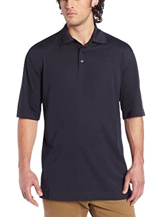 Cutter & Buck Men's Big-Tall CB Drytec Medina Tonal Stripe Polo, Navy Blue, 3X/Big