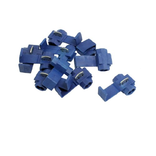 10 Pcs Electrical Wire Cable Lock Quick Splice Connectors Blue