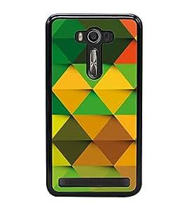 Colourful Pattern 2D Hard Polycarbonate Designer Back Case Cover for Asus Zenfone 2 Laser ZE500KL (5 INCHES)