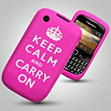 "BLACKBERRY CURVE 9300 - PINK ""KEEP CALM CARRY ON"" SOFT SILICONE SKIN CASE Accessories for mobile phones by Oliviasphonesby OLIVIASPHONES"