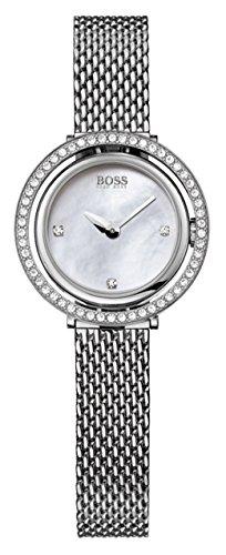 Hugo Boss  1502341 - Reloj de cuarzo para mujer, con correa de acero inoxidable, color plateado