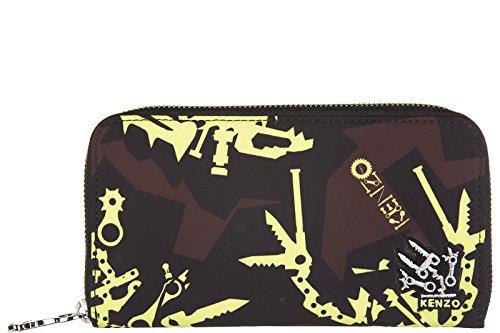 Kenzo portafoglio portamonete donna bifold originale giallo