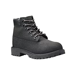 Timberland Unisex Kids Boots Size 11 M 34875 6 In Prem Black Scuff Prf Leather