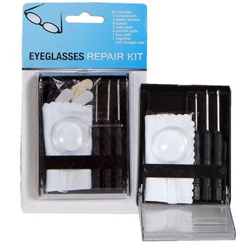 Deluxe Eyeglass Sunglass Reading Glasses Repair Tool Kit & Storage Case