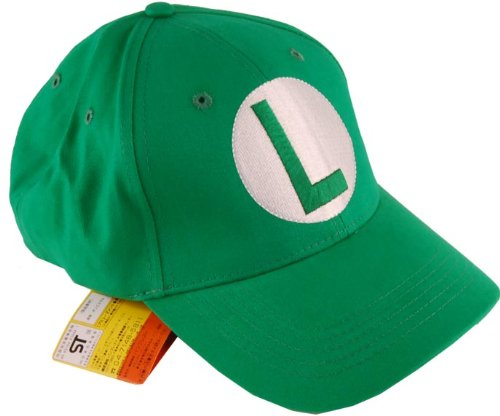 Super Mario Brothers Luigi Green Baseball Cap - 1