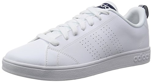 adidas NEO Advantage Clean VS, Scarpe Sportive Indoor Uomo, Bianco (Ftwr White/Ftwr White/Collegiate Navy), 42 EU