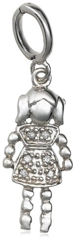 Sterling Silver Diamond Little Girl Charm