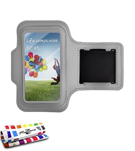 Genuine Armband Case Grey By Muzzano For Samsung I9500 / Galaxy S4 front-334981