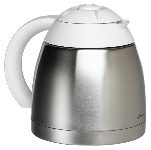 Capresso 4471.02 10-Cup Stainless/White Vacuum Carafe with Lid for Capresso 471 CoffeeTEC