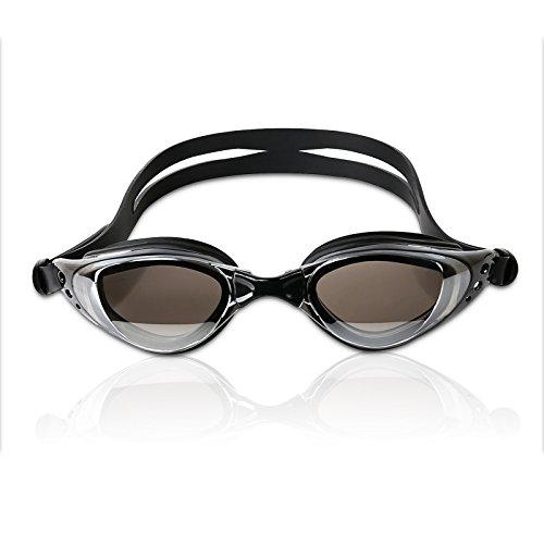 OUBO Schwimmbrille 100% UV-Schutz+Antibeschlag einstellbarer Silikonband + Etui