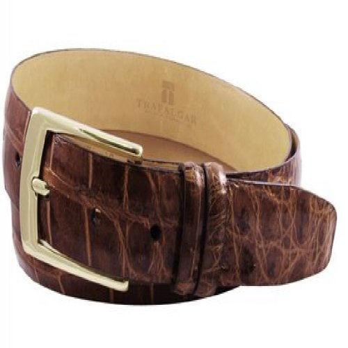 Trafalgar Genuine American Alligator Brown Belt Size 32
