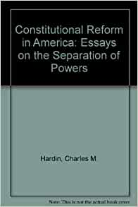 Separation of powers essays