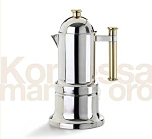 Stovetop Espresso Maker - Vev Vigano Kontessa Gold 6 cup size from Vev Vigano