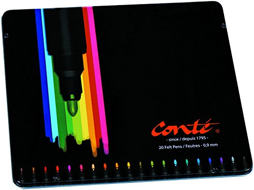 Bic Conté 927784 - Pack de 20 rotuladores de colores, multicolor