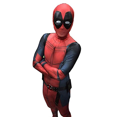 FOYO Deadpool Cosplay Costume Full Body Zentai Suit