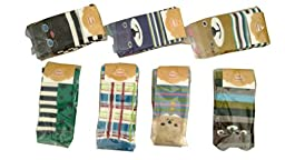 zmdnys ® 7 Pack Baby Toddler Bear Leg Warmers-Knee Socks Protector (unisex style 1)