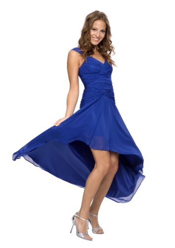 Astrapahl, Elegantes Luxus Cocktailkleid, bodenlang, Farbe blau