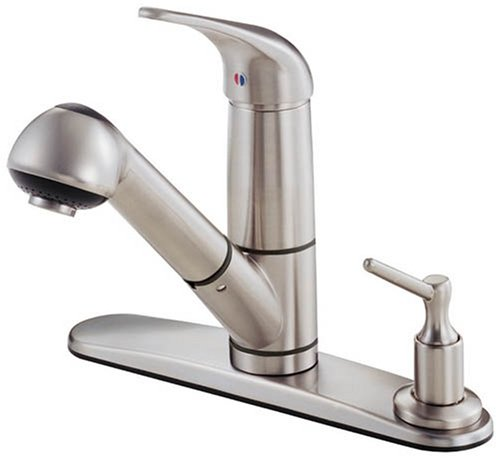 Danze D455612SS Melrose Single-Handle Kitchen Faucet with Classic Pull-Out Spout, Stainless Steel