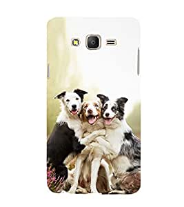 Three Cute Dog giving pose 3D Hard Polycarbonate Designer Back Case Cover for Samsung Galaxy On5 :: Samsung Galaxy On 5 Pro