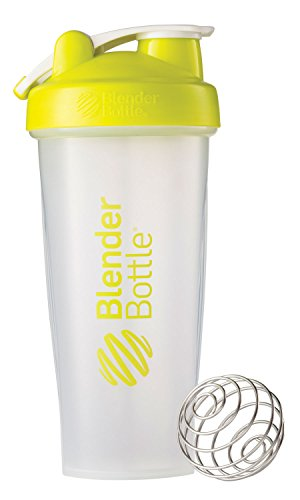 BlenderBottle Classic Loop Top Shaker Bottle, Clear/Green, 28-Ounce Loop Top