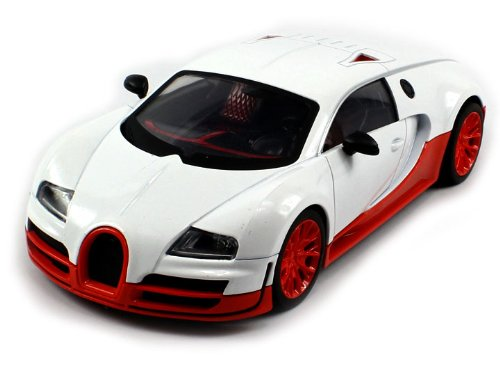 Diecast Bugatti Veyron Super Sport Electric RC Car Metal 1:18 RTR (Colors May Vary) Full Metal, Metallic Paint Job