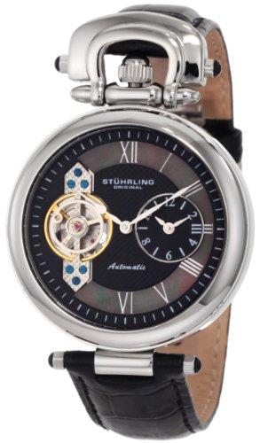 Stuhrling Original Men's 127.33151 Special Reserve Emperor Automatic Skeleton Dual Time Zone Watch