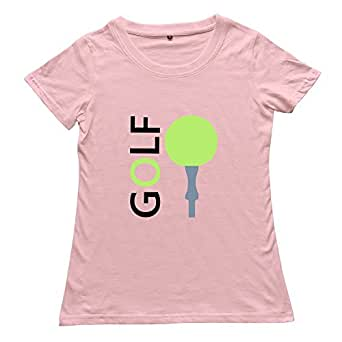 Zczy women 39 s t shirt golf ball size xxl pink for Womens golf shirts xxl