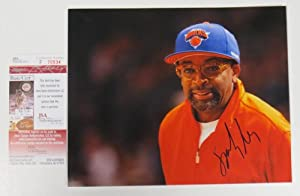Spike Lee Signed Authentic Autographed New York Knicks 8x10 Photo NBA (JSA) by Allsports Productions