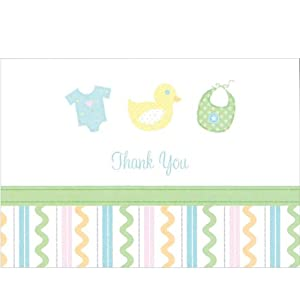 Sweet Baby Thank You Cards and Envelopes - Pack of 20