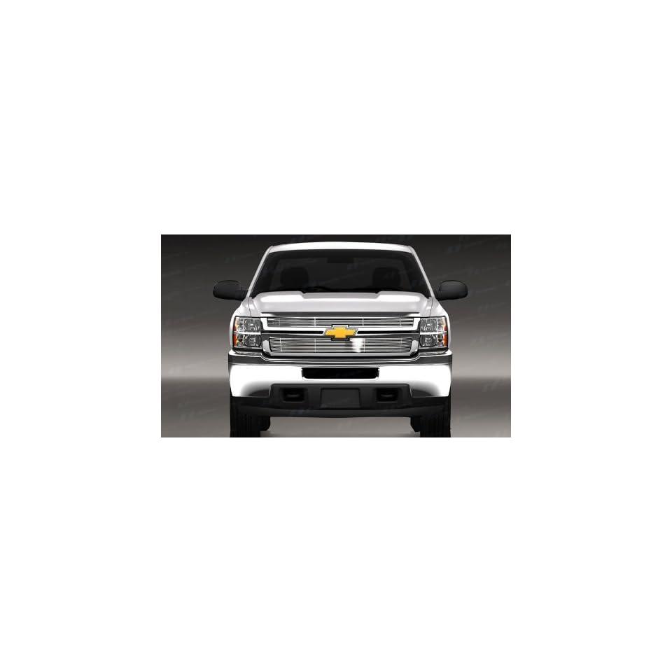 Chevy Silverado HD Chrome Billet Top Grille 2007 2010
