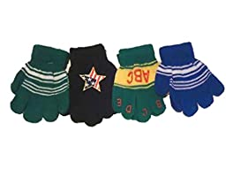 Set of Four Pairs Magic Gloves for Infants and Toddlers Ages 1-4 Years