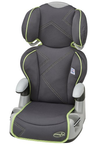 Evenflo Big Kid AMP High Back Car Seat Booster, Green Angles