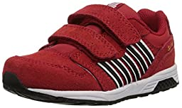 k-SWISS SI-18 Trainer 2 Dester Sneaker (Infant/Toddler), Red/Black/Cyber Yellow, 3 M US Infant