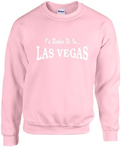 Adult Unisex Funny Crewneck Size 2X (I'D RATHER BE IN LAS VEGAS) Sweatshirt (Las Vegas Merchandise compare prices)