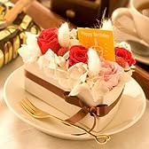 翌日配達お花屋さん まるで「ケーキ」のデコレーションフラワー♪バースディケーキ(バラのプリザーブドフラワー)誕生日用