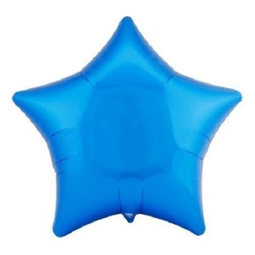 "Lot of 10 Blue Star Shape Foil Mylar 19"" Balloon Birthday Party Decoration"