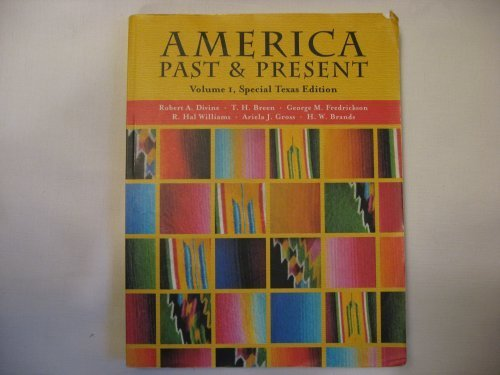 America Past & Present Volume I, Special Texas Edition (Paperback 2005)
