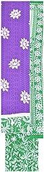 Princess Women's Cotton Unstitched Dress Material (Purple)