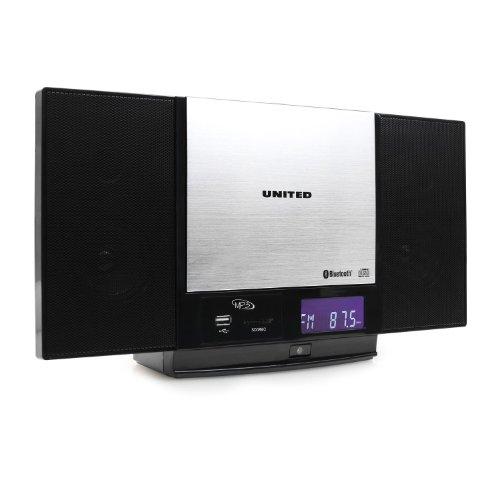 united vmc 1300 hifi bluetooth stereoanlage keine kompaktanlage k chenradio usb sd slot aux in. Black Bedroom Furniture Sets. Home Design Ideas