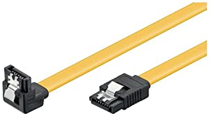 Wentronic HDD S-ATA Kabel 1,5GBs/3GBs/6GBs (S-ATA L-Type auf L-Type 90) 0,5m gelb